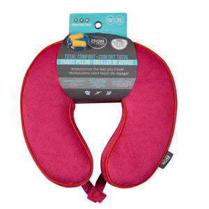 Premium Memory Foam Travel Neck Pillow - Red