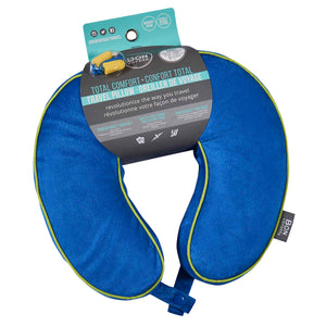 Memory Foam Premium Travel Pillow - Blue, Bon Voyage Memory Foam Cushion Neck Pillows Removable Washable Cover