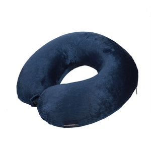 Classic Memory Foam Travel Neck Pillow - Navy