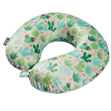 Load image into Gallery viewer, Stylish Pattern Design Memory Foam Travel Neck Pillow - Green Cactus