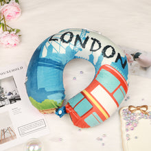 Load image into Gallery viewer, World Edition Memory Foam Travel Neck Pillow - London Blue