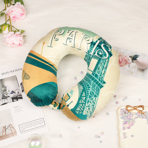 World Edition Memory Foam Travel Neck Pillow - Paris