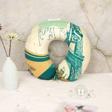 Load image into Gallery viewer, World Edition Travel Pillow - Paris, Bon Voyage Memory Foam Cushion Neck Pillows Removable Washable Cover