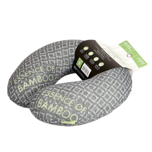 Bamboo Travel Pillow Black, Hypoallergenic Washable Memory Foam Bon Voyage