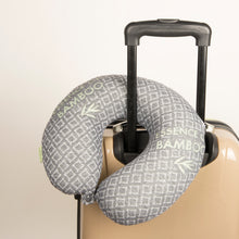 Load image into Gallery viewer, Bamboo Travel Pillow Black, Hypoallergenic Washable Memory Foam Bon Voyage