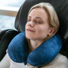Load image into Gallery viewer, Classic Memory Foam Travel Neck Pillow - Navy