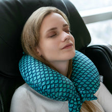 Load image into Gallery viewer, Mermaid Tail Memory Foam Travel Neck Pillow - Green