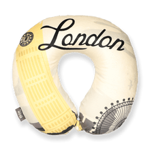 Load image into Gallery viewer, World Edition Memory Foam Travel Neck Pillow - London Yellow