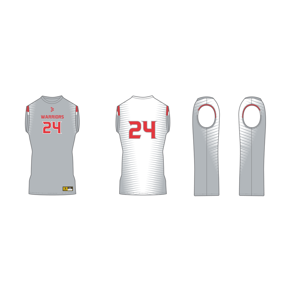 Warriors Sleeveless Compression Shirt