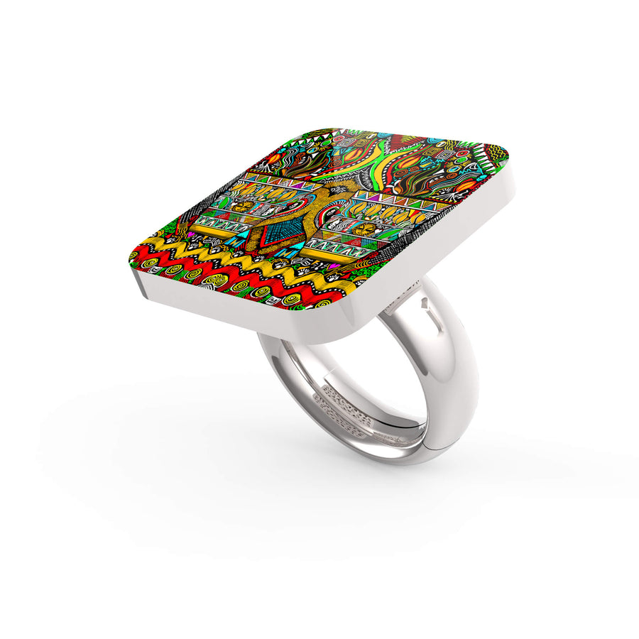 African Coffee Art Ring
