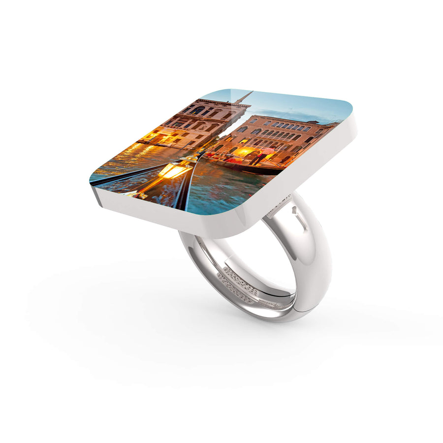 GONDOLA IN CANALE - VENEZIA LIMITED EDITION Ring