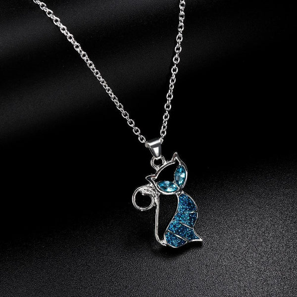 Deep Blue Opal Necklace - A Cat About Town