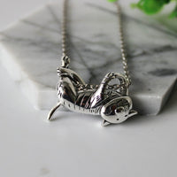 Cheshire Cat Necklace - A Cat About Town