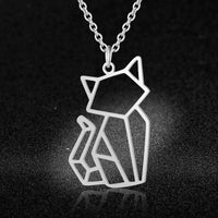 Modern Geometric Necklace - A Cat About Town