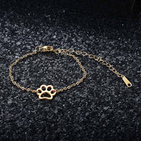 Simple Paw Charm Bracelet - A Cat About Town