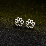 Minimalist Cat Paw Studs - A Cat About Town