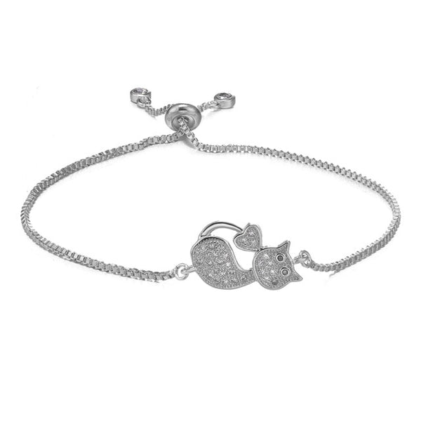Sparkly Kitten Bracelet - A Cat About Town