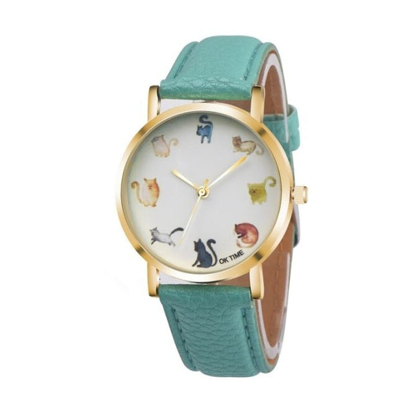 Cute Colorful Cat Emoji Watch - A Cat About Town