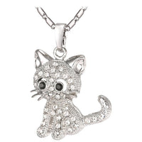 Austrian Rhinestone Necklace - A Cat About Town