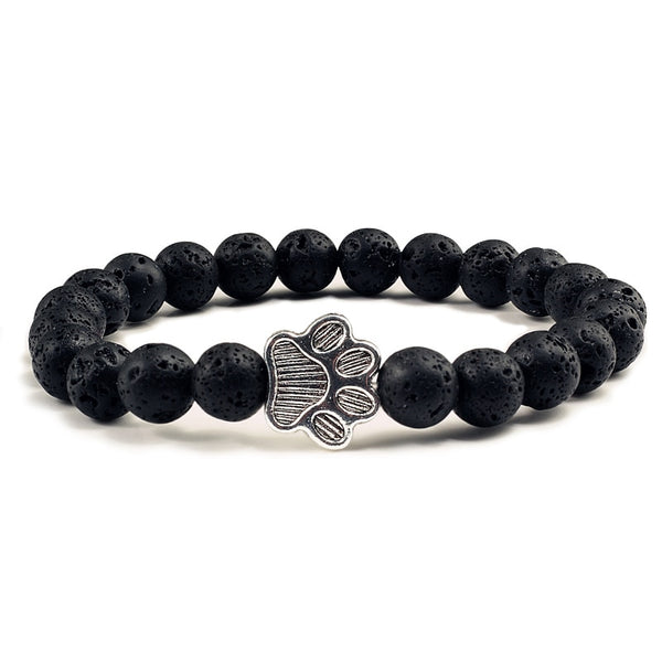 Natural Volcanic Stone Bracelet - A Cat About Town