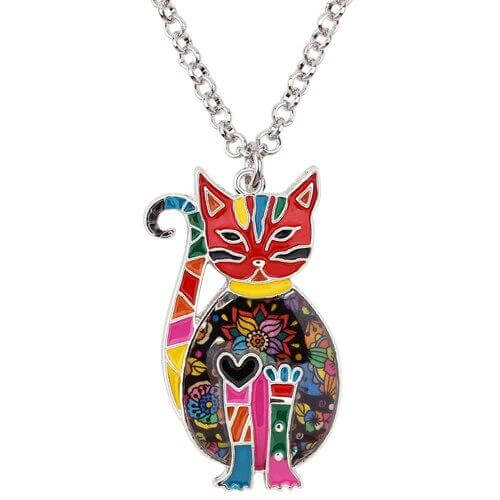 Floral Kitten Pendant - A Cat About Town
