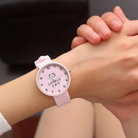 Women's Lovely Cat Silicone Watch - A Cat About Town