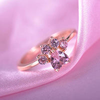 Cute Crystal Paw Ring - A Cat About Town