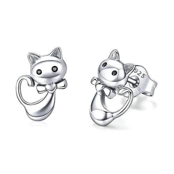 Quirky Dancing Cat Earrings - A Cat About Town