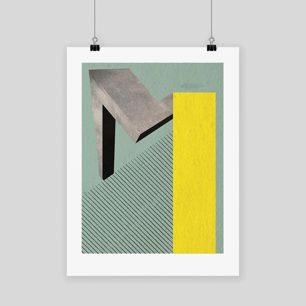 The Letter M - Graphic Art Print