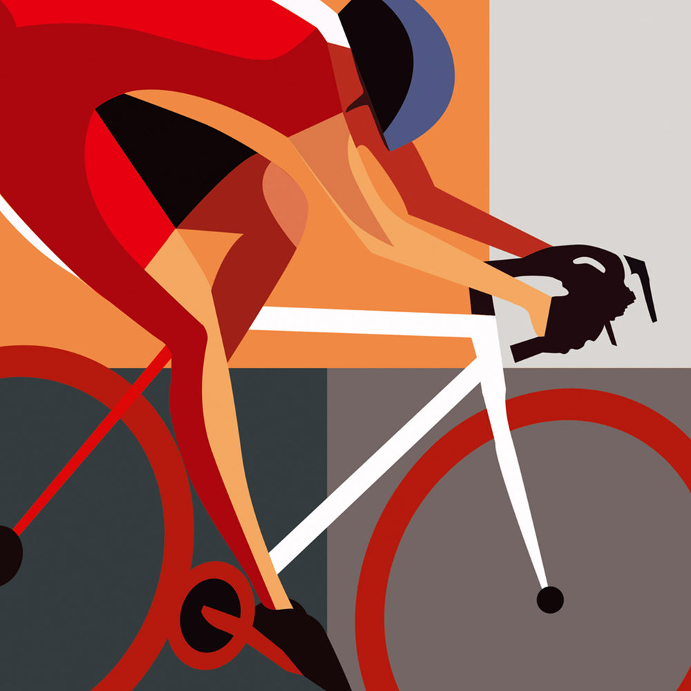 Bold Cycling Bandit – Cyclo - Digital Art Print