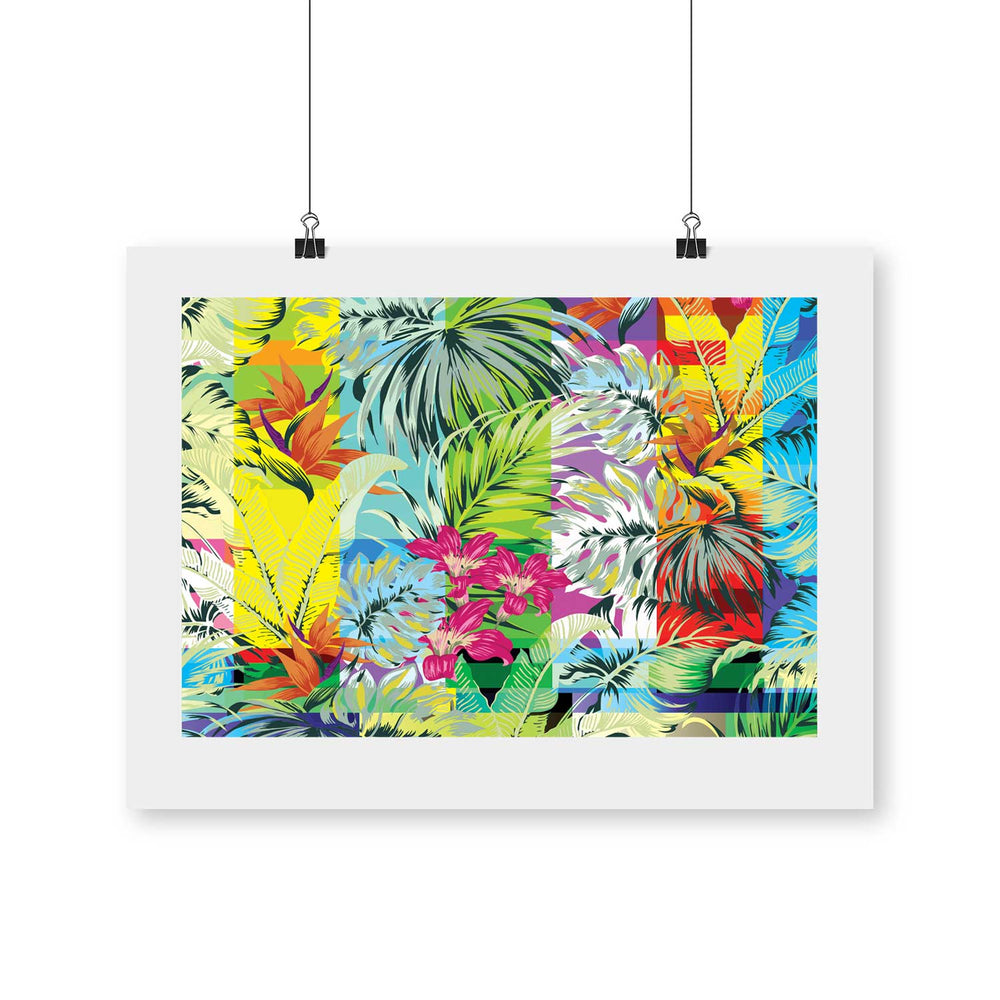 GlitchDot – Tropical Glitch Digital Art Print