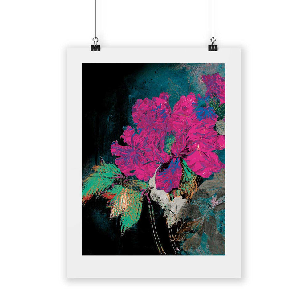 Bright  – Tropical Glitch Digital Art Print