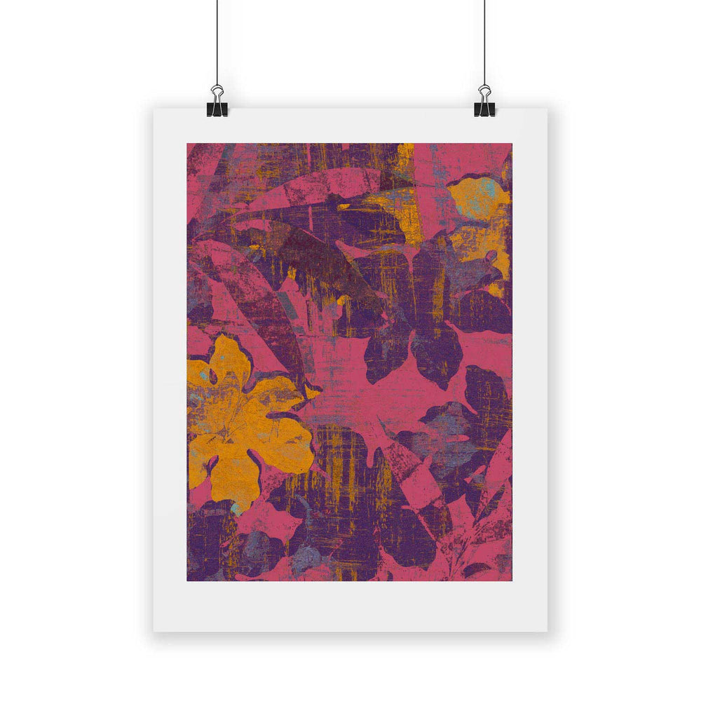 Pattern A – Tropical Glitch Digital Art Print