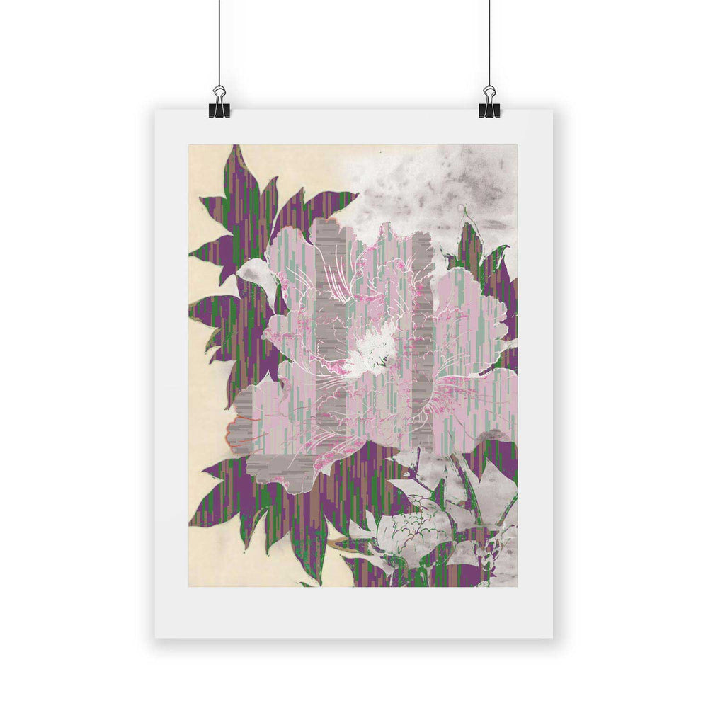Pattern C  – Tropical Glitch Digital Art Print