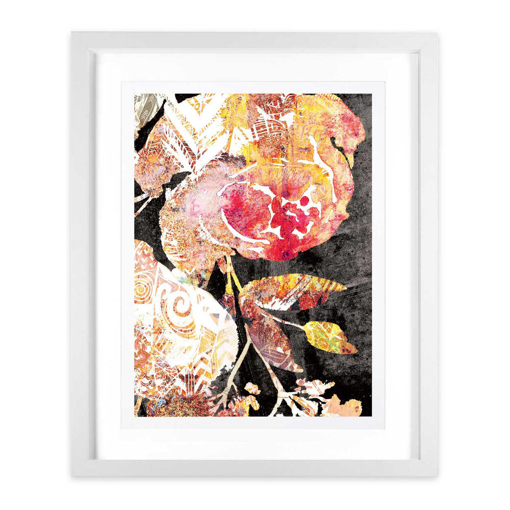 RedRose – Aztec Blooms - Digital Art Print