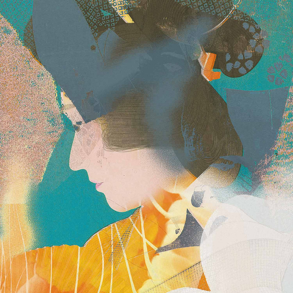 Aia Dreaming - Thinking Geisha - Canvas Art Print