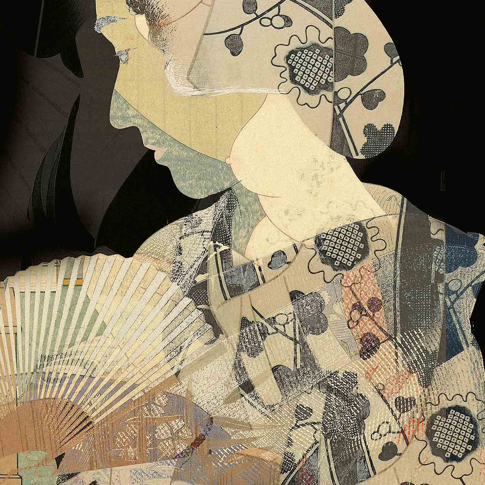 Kimi - Thinking Geisha  - Digital Art Print