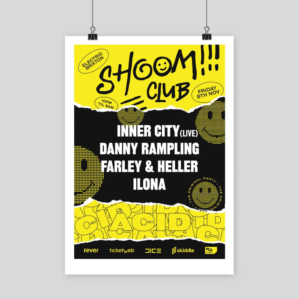 Shoom Electric Brixton Poster