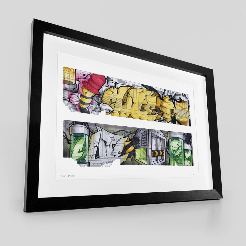 Trains - Giclee Print from CUTE