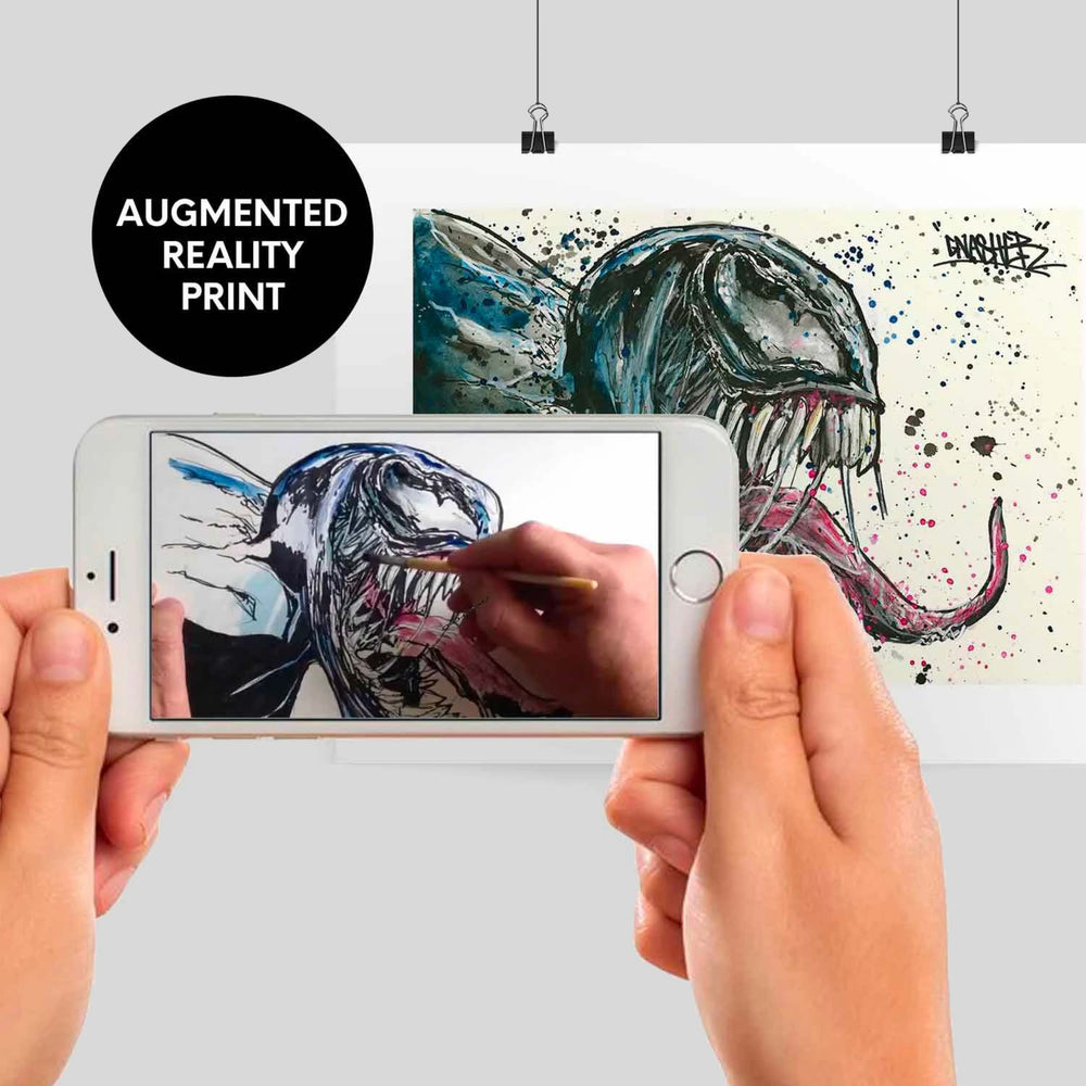 Symbiote - Augmented Reality print by GNASHER