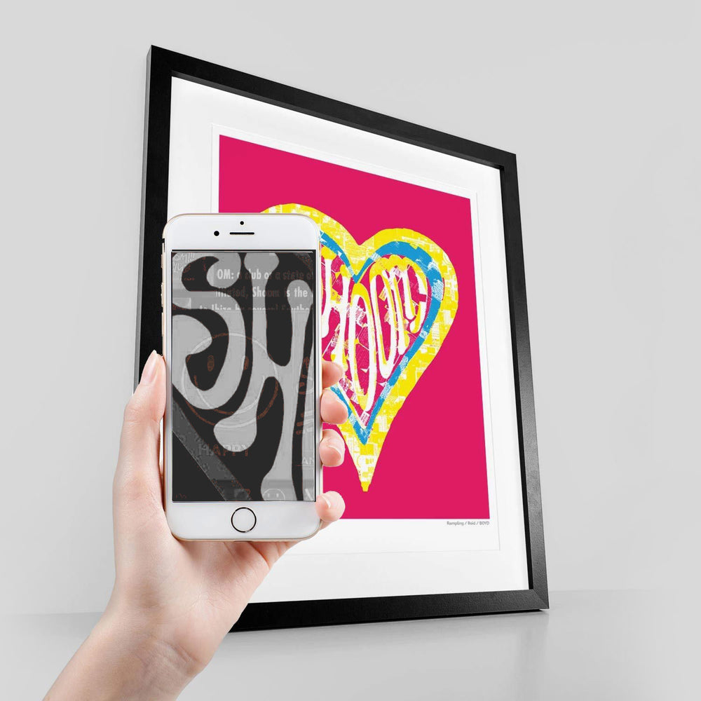 Shoom CMYK Retrospective #M - Augmented Reality Print