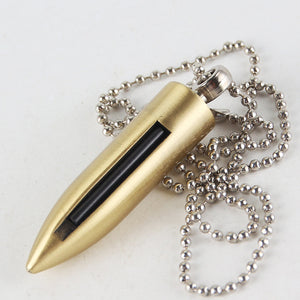 Bullet Necklace Million Matches Key Chain Pendant Lighter