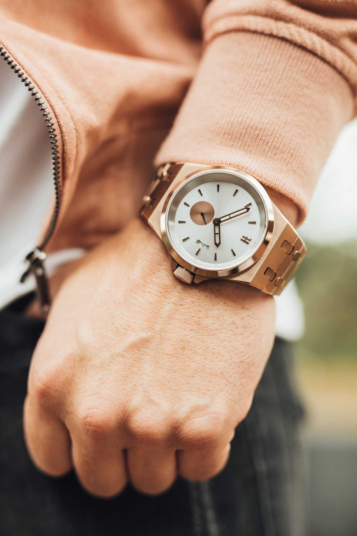 THE ACE - ROSE GOLD MENS WATCH