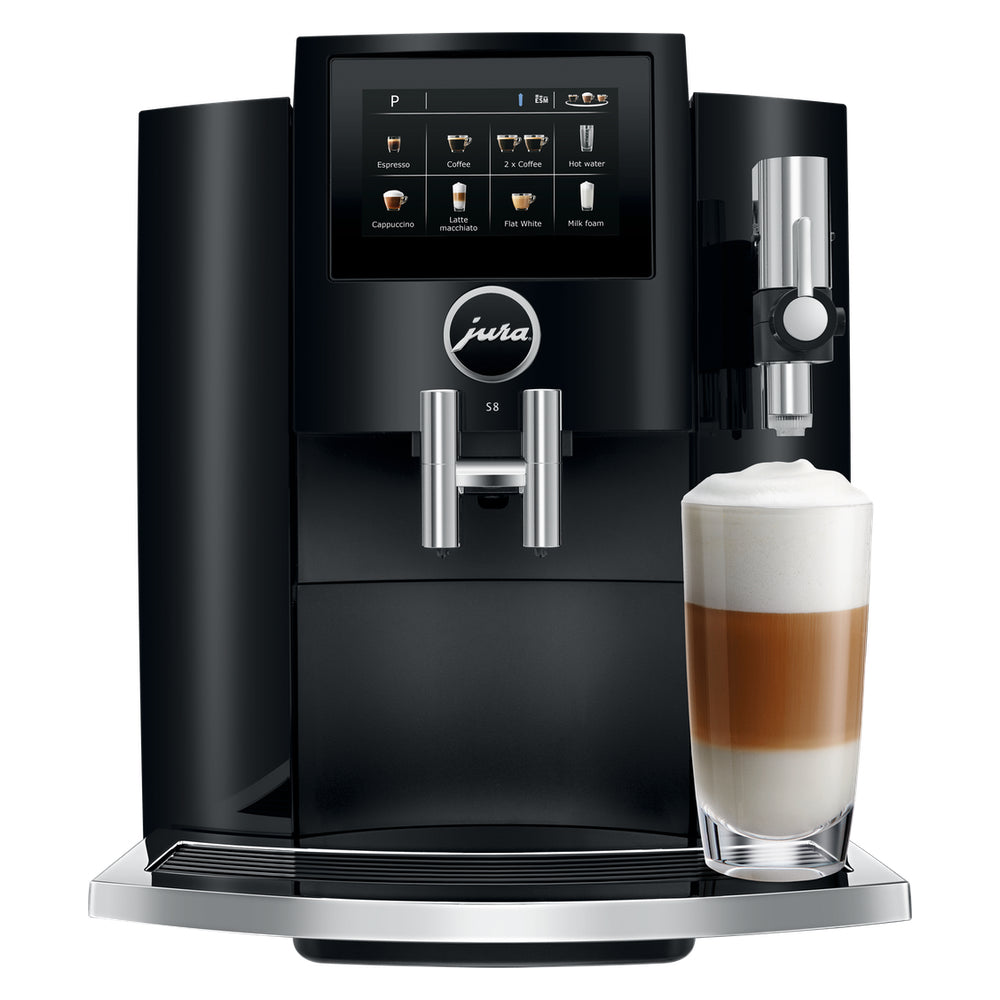 JURA S8 Piano Black Superautomatic Coffee Machine 15358 available from Espresso Canada