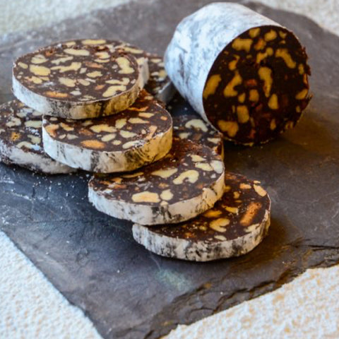 Chocolate Salami Made with Espresso