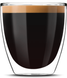 A Double Espresso made with a Saeco Superautomatic Espresso Machine by Espresso Canada