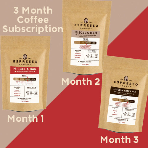 3 Month Coffee Subscription Gift from Espresso Canada