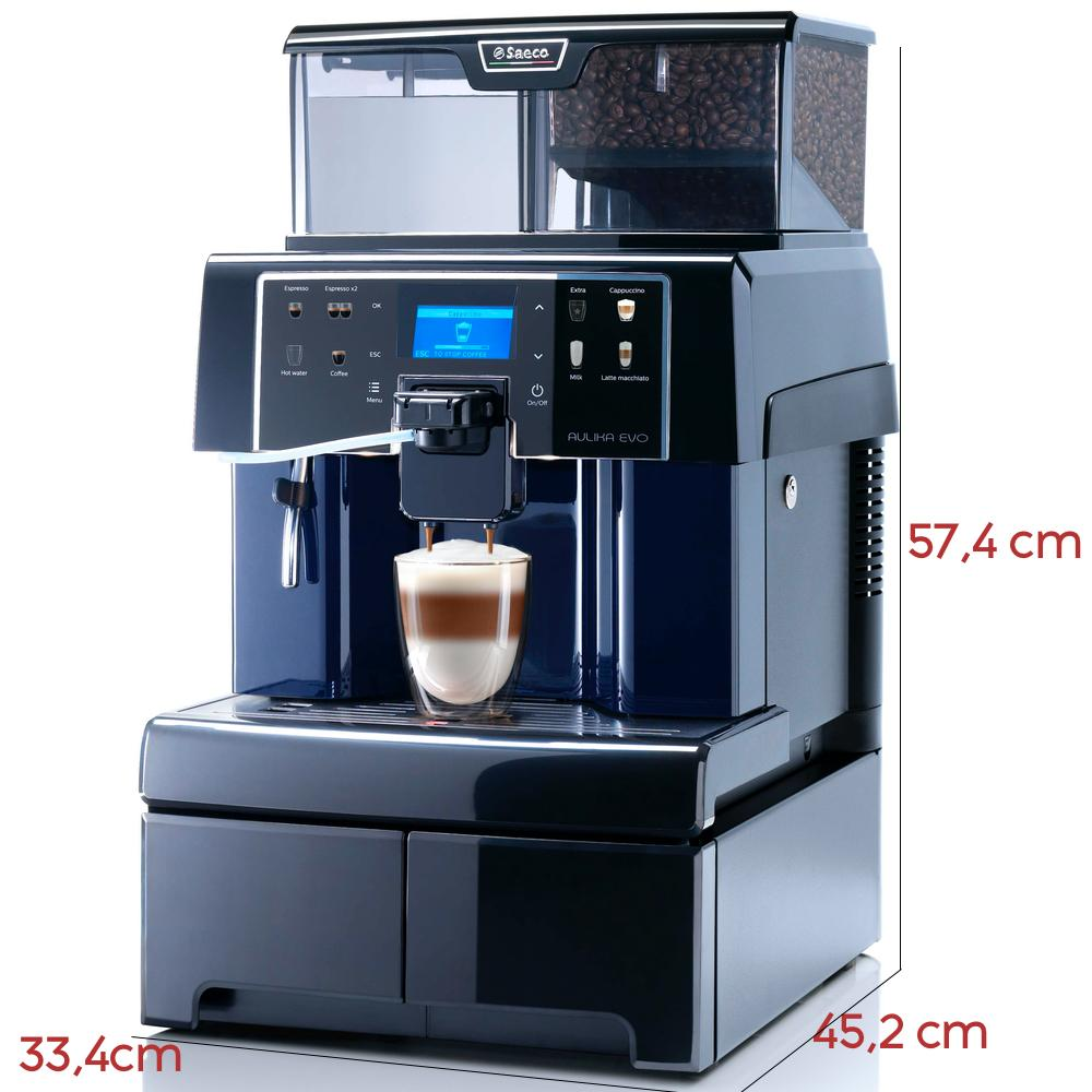 Saeco Aulika Evo Top Superautomatic Coffee Machine RIHSC Dimensions