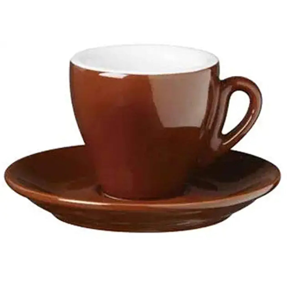 Brown Nuova Point Espresso Cup in Milano Style available at Espresso Canada
