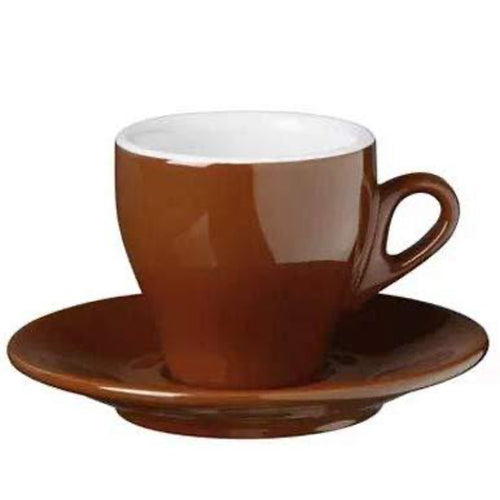 Brown Cappuccino Cups Nuova Point Milano Style Made in Italy